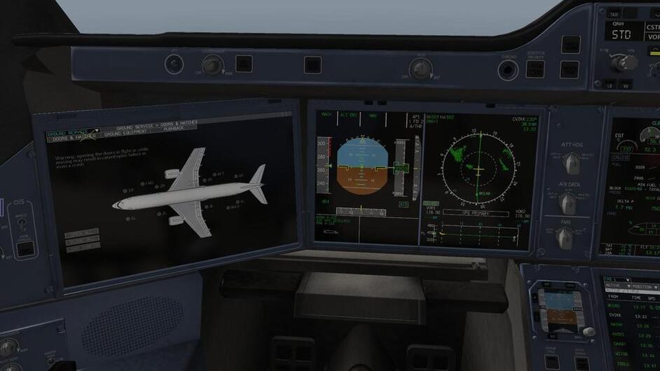 Flying The Airbus A350 In X-Plane---AAR - Screens & AARs